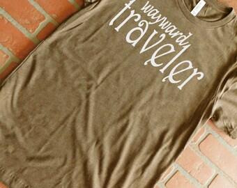 Wayward Traveler T-Shirt, Wanderlust, Accidental Tourist, Explorer, Adventurer, Wanderer T-Shirt, Vacation T-Shirt