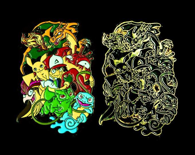 Spunnn Ash and Pokemon Pin