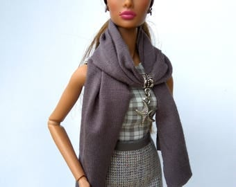 Doll scarf - Barbie clothes, Fashion Royalty doll clothes