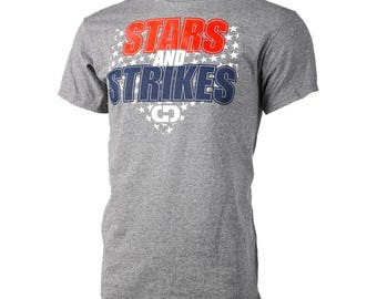 Stars and Strikes Short Sleeve Shirt, Fastpitch Softball Shirt, Softball Gift - Free Shipping!