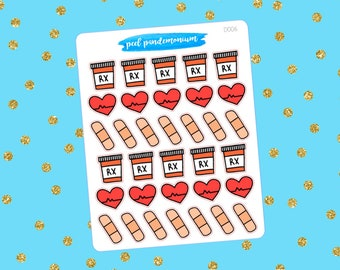 Medical Doodle Planner Stickers (D006)