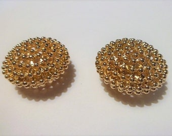 Gold plated oval ball bead