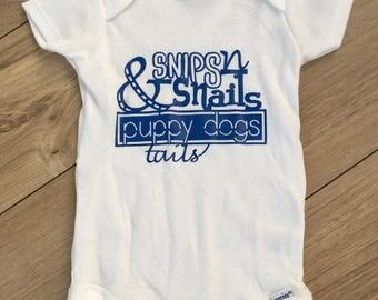 Snips n Snails Boys Onesie