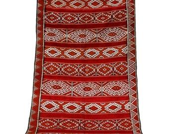 Vintage Rug, Antique Rug, Vintage Kilim Rug 5x12, Tribal Rug, Red Rug, Vintage Tapestry, Runner Rug, Antique Wall Tapestry, Moroccan Rug