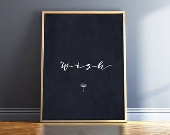Navy Blue Wall Art minimalist poster quote prints framed quotes wall art