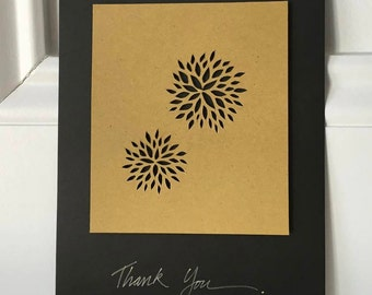 Blooms Thank You Card