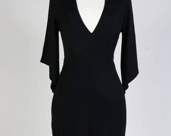 Deep V Plunging Neckline Knit Body-con Dress/Custom Women Knit Plunging Neckline Tie Back Dress ( + Colors )