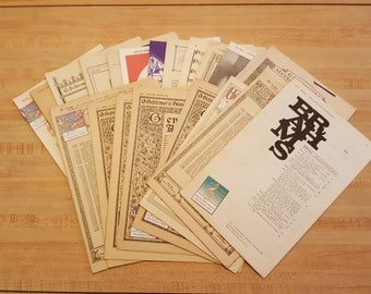 Vintage Paper Music for Crafts Collage Scrapbooking Paper Beads Mod Podge Early 1900s 22 Pieces Church Choral
