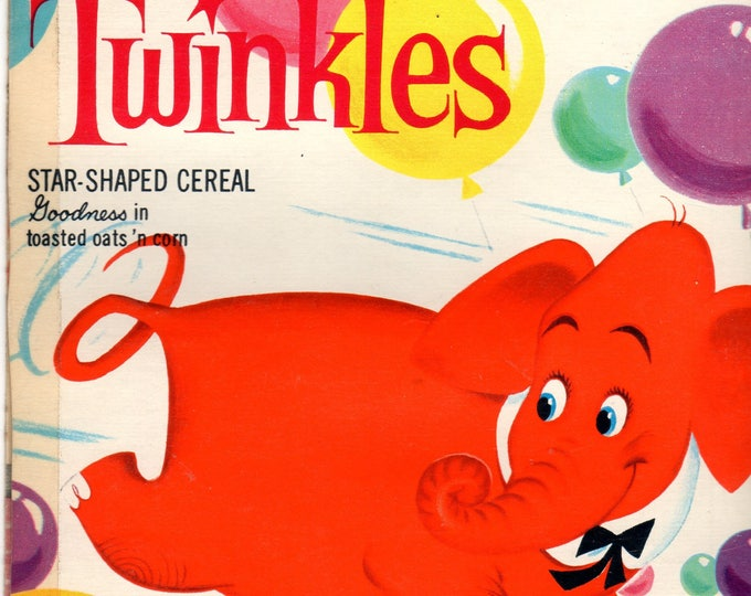 1960's Twinkles General Mills Cereal Box Book Twinkles and the Balloon Breaker