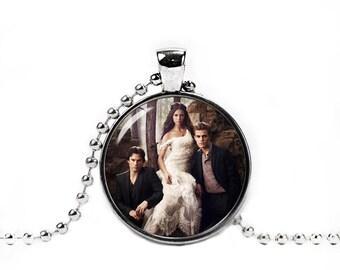 Vampire Diaries Necklace Vampire Diaries Pendant Fangirl Fanboy Damon Salvatore