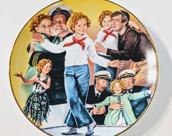 Shirley temple/ Shirley Temple and Captain January collector plate/ 1983 Nostalgia/ Shirley Temple collector plate/ Collector plate