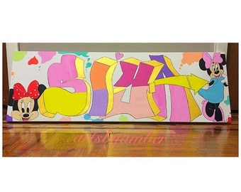 Minnie Mouse Graffiti Letters