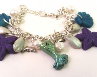 Mermaid Ocean Theme Charm Bracelet