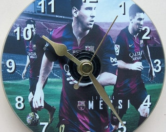 Lional Messi on a cd clock