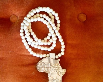 Africa Map Beads