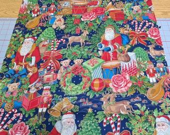 Christmas Figures Cotton Fabric
