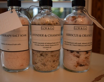 Set of 3 Aromatherapy Bath Salts