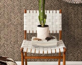 Simple Herringbone peel and stick vinyl wallpaper | Herringbone pattern | Hand drawn pattern wallpaper  #12