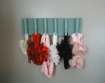 Rustic Barn Wood Baby Headband Holder