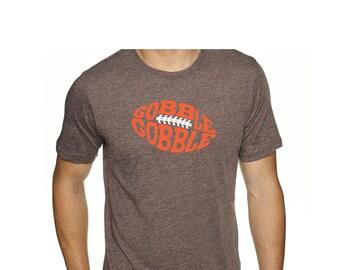 Gobble Gobble Football Thanksgiving Shirt, Gobble Gobble Shirt, Football Shirt, Thanksgiving Shirt, Turkey Shirt