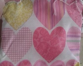 Super Cute Heart zipper pouch