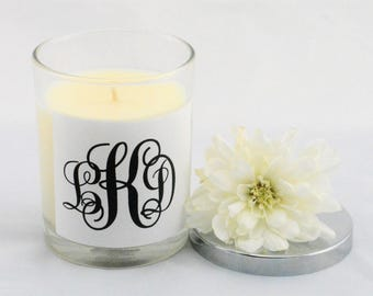 Monogram Gifts for Women, Soy Candle, Personalized Gift, Personalised Candles, Scented Candles, Bridesmaid Candle, Gift for Her, Home Gifts