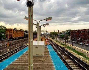 "Central Ave. Green Line ""L"" Station"