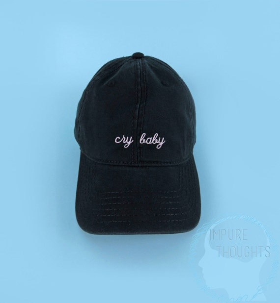 items similar to cry baby hat embroidered baseball cap
