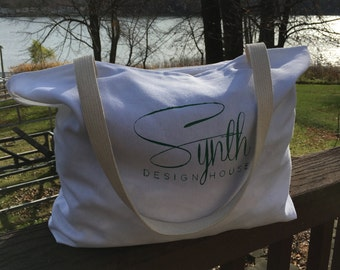 Canvas Grocery Reusable Tote Overnight Bag