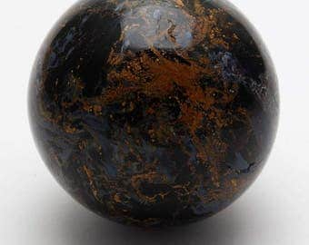 Large rare blue and gold Namibian Pietersite Sphere.