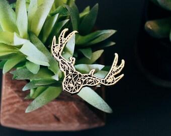 Geometric Deer Soft Enamel Pin | Wilderness Creatures | Enamel Pins | Lapel Pin | Pin Badge | Hat Pin | Lapel Pins | Woodland Animals Antler