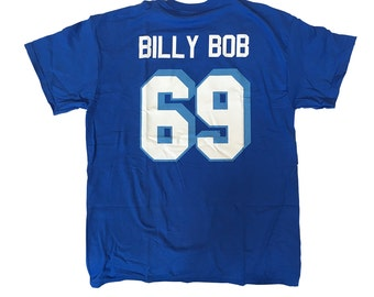 Billy Bob T-shirt # 69 West Canaan Coyotes Jersey Shirt As Worn In Varsity Blues Movie Football Team Lineman Player Costume Adult Blue