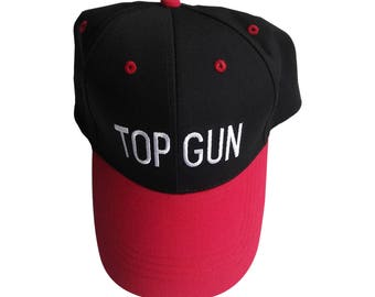 Top Gun Baseball Cap Like The Hat Worn By Adam DeMamp In Workaholics TV Show DeVine Embroidered Movie Costume Black And Red