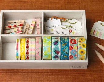Washi Tape wood Case / Masking Tape Organizer / Tape Holder