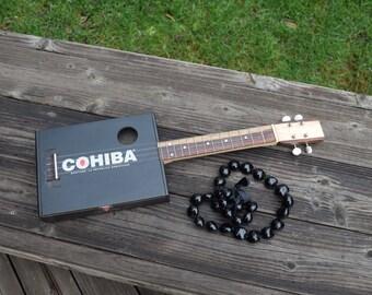 Cigar box ukulele, tenor scale, exotic cocobolo fretboard