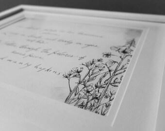 Handwritten Gerard Manly Hopkins Quote