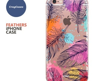 Feathers iphone Case, Feathers iphone 7 Case, Feathers iphone 6 Case, Also Available for iPhone 6/7 Plus (Shipped From UK)