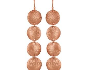Carosello Earrings | Rose Gold | Sterling Silver