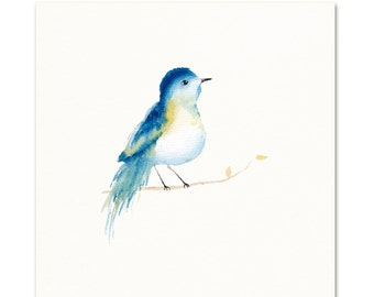 Watercolor Bird. Watercolor Art Print.
