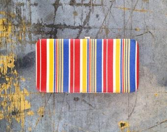 1990s Striped Pocket Purse, 90s Colorful Purse, 1990s Purse, 1990s Wallet, 90s Pocket Book