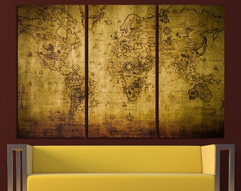 Antique world map etsy vintage world map old world map antique world map canvas world map wall art world map gumiabroncs Gallery