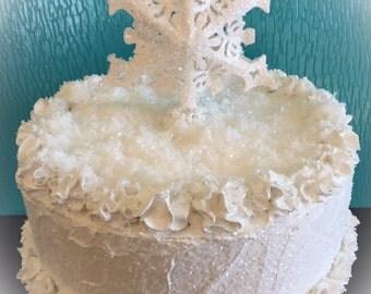 Winter Wonderland Fake Cake