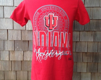 Vintage 90s INDIANA HOOSIERS T Shirt - Small / Medium - University IU