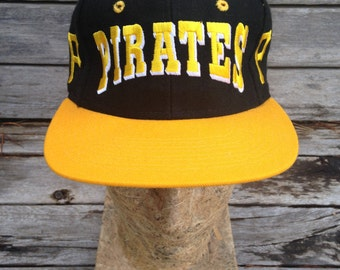 Vintage deadstock 90s PITTSBURGH PIRATES Snapback Hat - One Size - NWOT