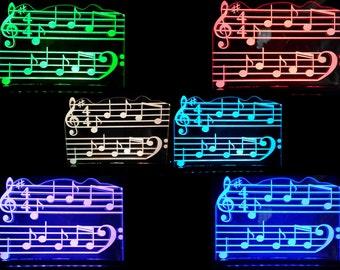 Acrylic with RGB LED lights lamp