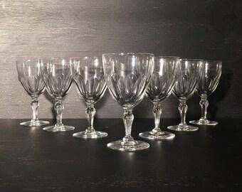 Vintage Wine Glasses (Set of 7)