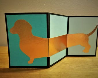 Dachshund Greeting Card - Accordion Fold