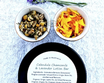 Calendula Chamomile Lavender Lotion bar 40g in tin
