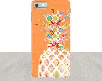 Pineapple iPhone 7 Case iPhone 6 Plus Case iPhone 5 Case orange iPhone case Samsung Galaxy S5 Case iPhone5 Case pineapple Case gift for teen