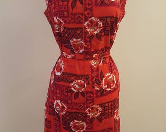 Gorgeous Vintage Handmade 50's Hawaiian with Matching Belt!  Perfect for Tiki Oasis!!!